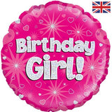 "18"" Birthday Girl Pink Foil Balloon"