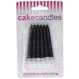 Black Glitter Candle (Pack of 12)