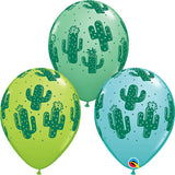 "11"" Cactus Latex Balloons (Pack 6)"