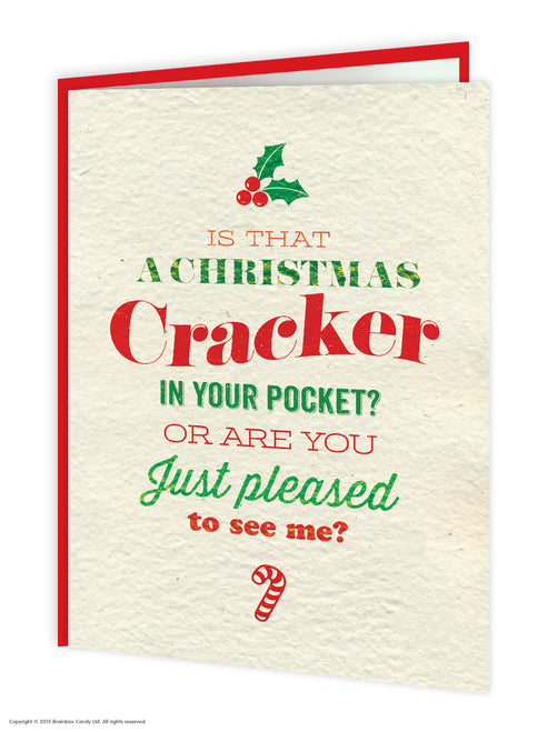 Cracker In Your Pocket Christmas card