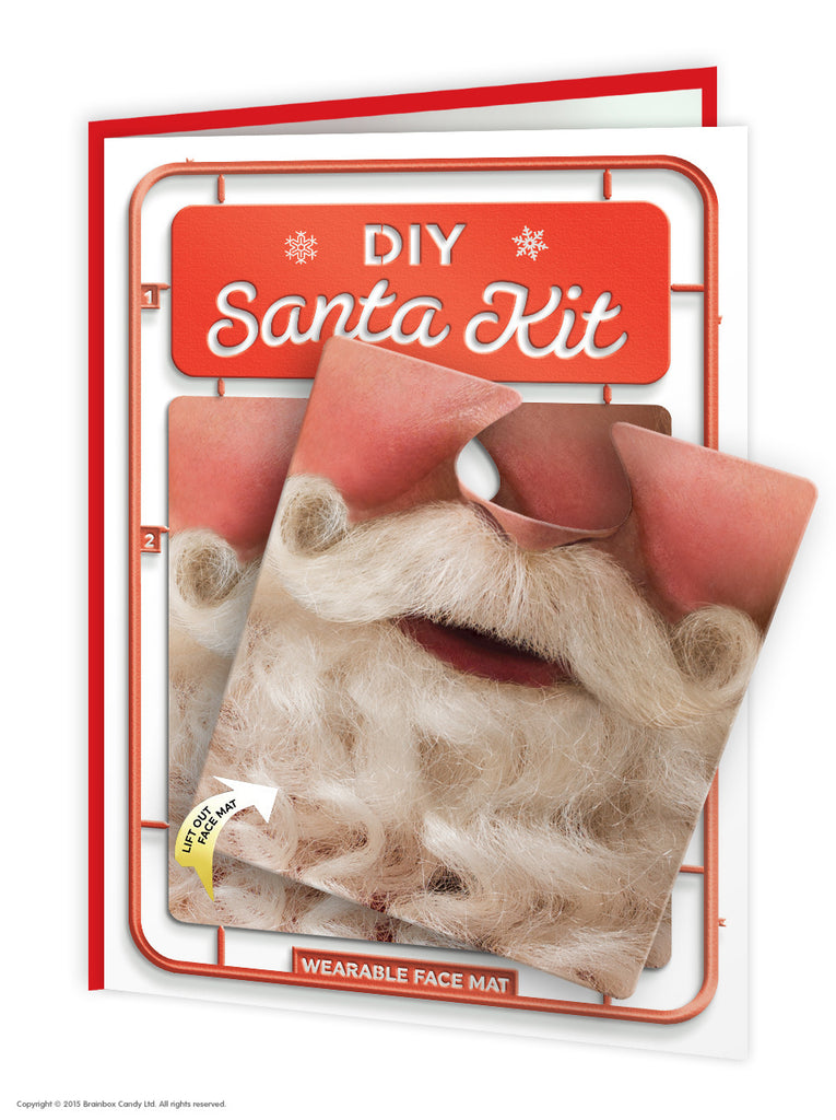 DIY Santa Kit Face Mat Card