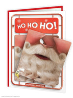 Ho Ho Ho Face Mat Card