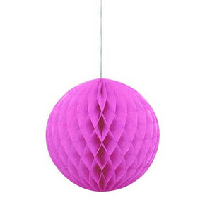 8 Inch Hot Pink Honeycomb Tissue Paper Ball