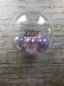 "20"" Clear Bubble Balloon Containing Balloons"
