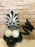 Small animal head on base - Zebra