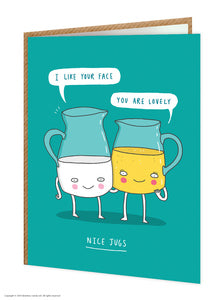 Funny nice jugs birthday card