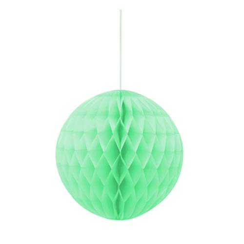 8 Inch Mint Honeycomb Tissue Paper Ball