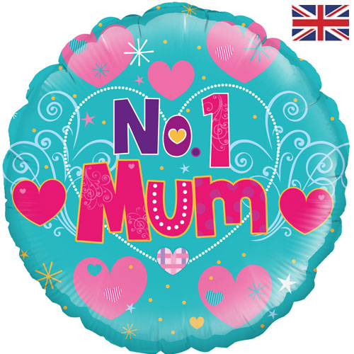 "18"" No.1 Mum Foil Balloon"