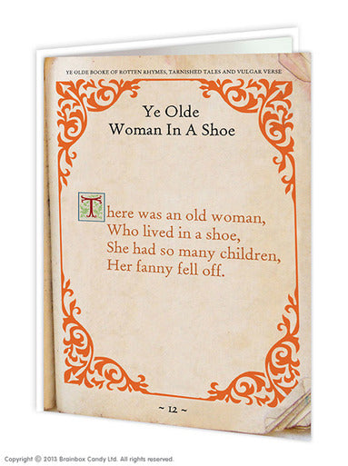 Old woman  fanny rude birthday card