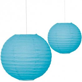 "10"" Powder Blue Paper Lantern"