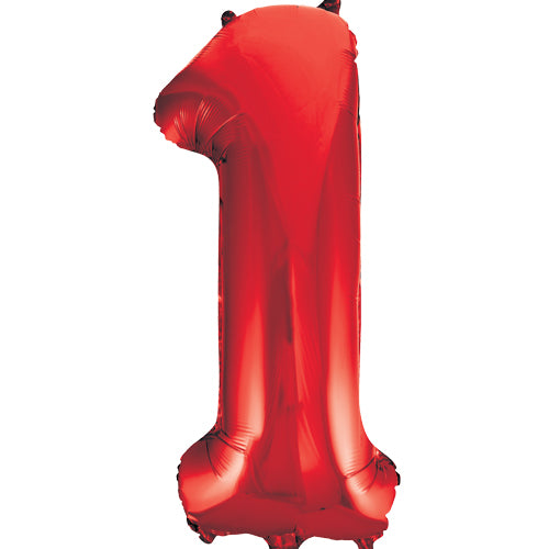 Large Red Number 1 Balloon By Unique