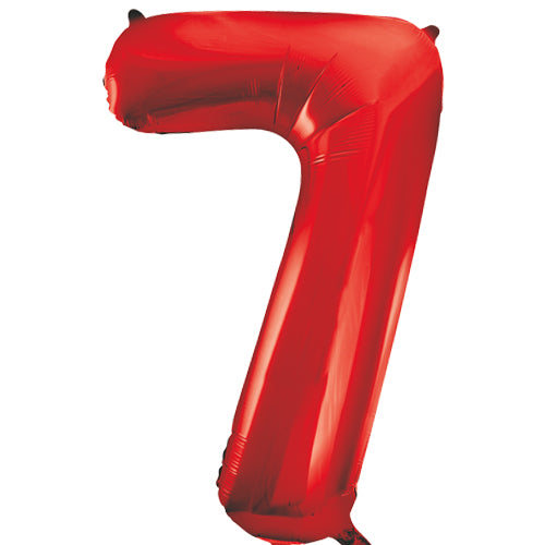 Large Red Number 7 Balloon By Unique