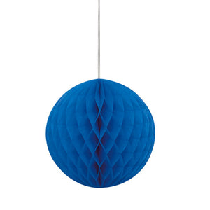 8 Inch Royal Blue Honeycomb Tissue Paper Ball