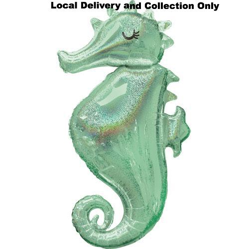 "38"" Mermaid Wishes Seahorse Supershape Foil Balloon"