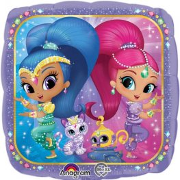 "18""  Shimmer and Shine Foil Balloon"