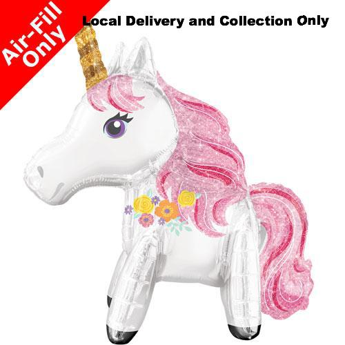 "25"" Standing Magical Unicorn Foil Balloon - Air Filled Only"