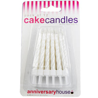 Pearlescent White Candle (Pack of 12)