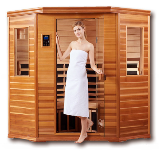 Clearlight Premier IS-C Three Person Corner Far Infrared Sauna