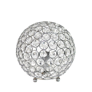 Elegant Designs Crystal Ball Sequin Table Lamp Chrome