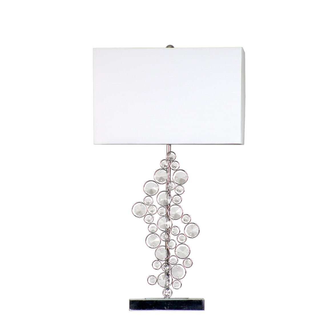 Elegant Designs Prismatic Crystal Sequin and Chrome Table Lamp