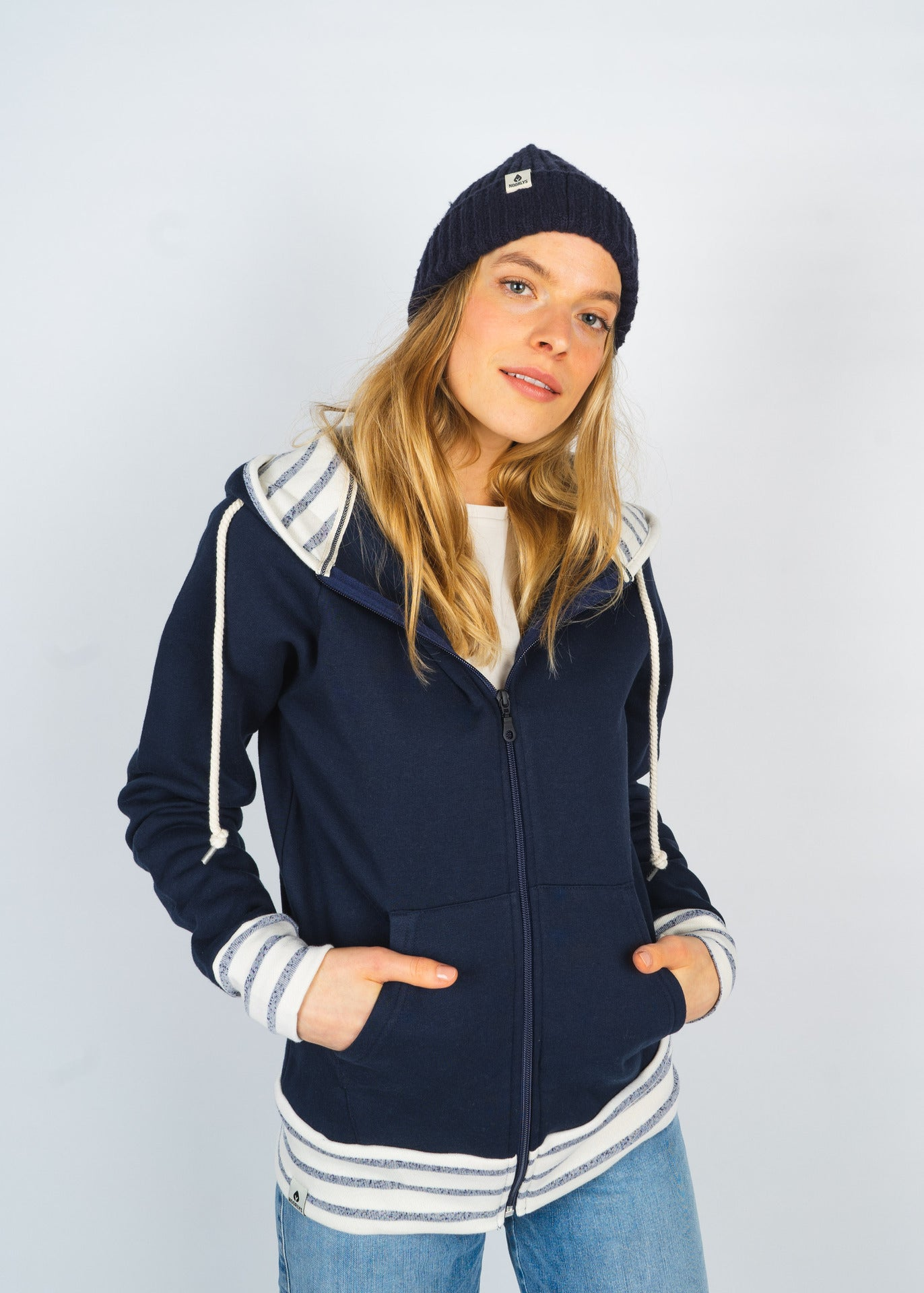 Ziphood PIER Navy/BeigeNavyStriped
