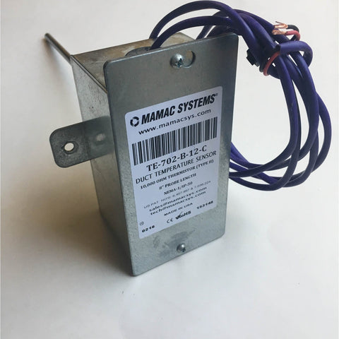 Mamac Systems TE-702-B-12-C Duct Temperature Sensor