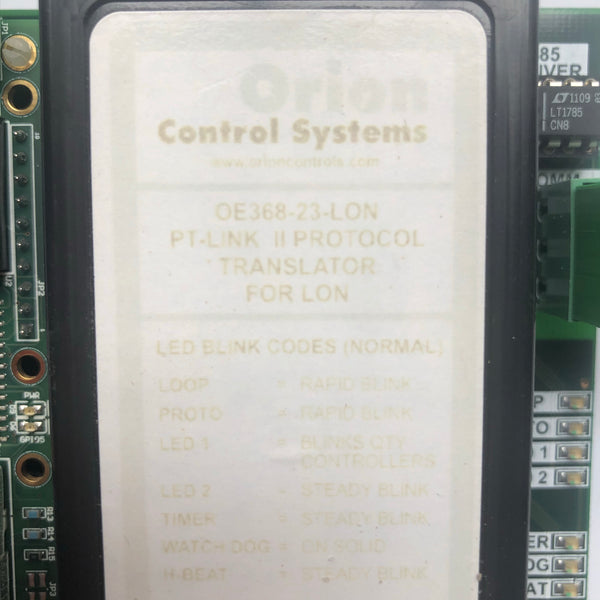 AAON Orion Controls OE368-23-LON