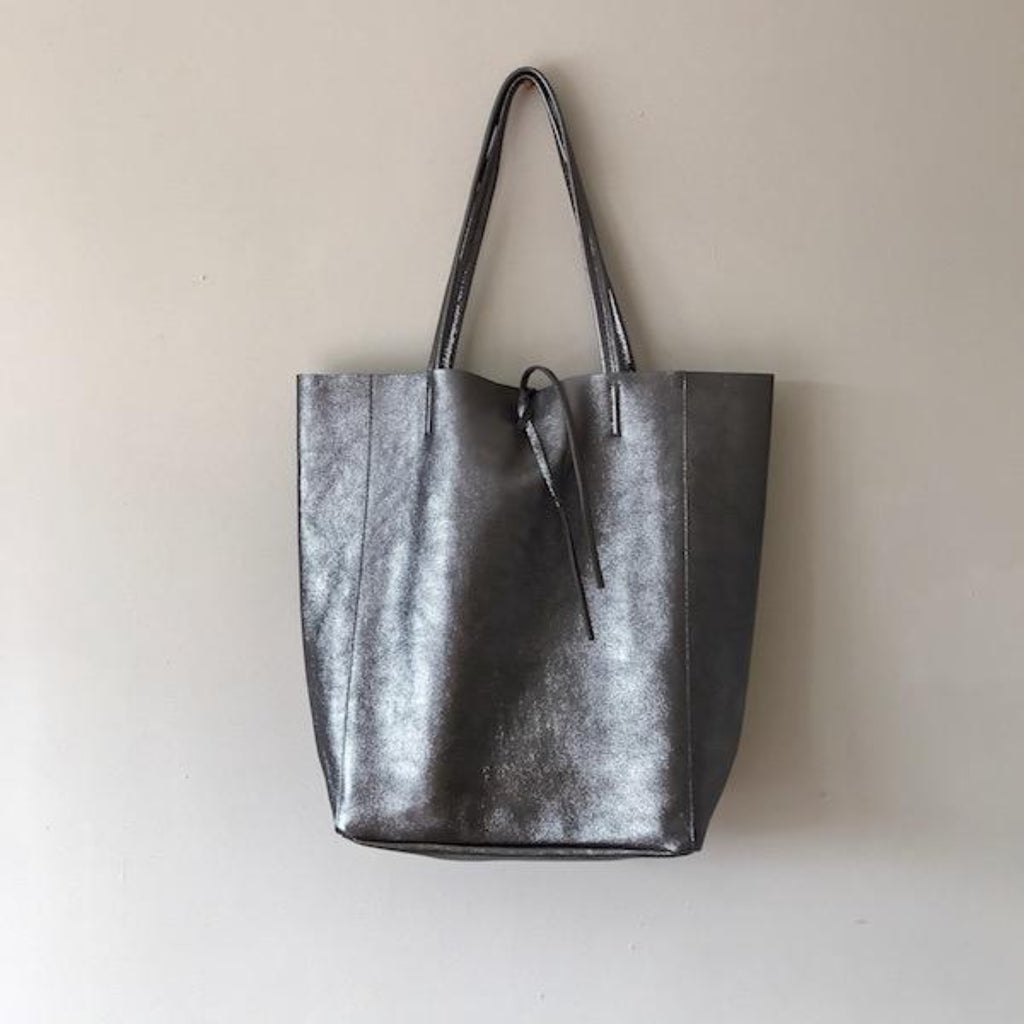 NANCY Metallic Leather Bag
