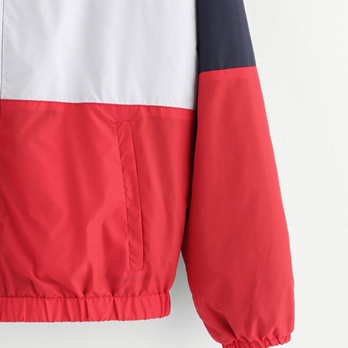 Colorblock Windbreaker - Ocean Vista