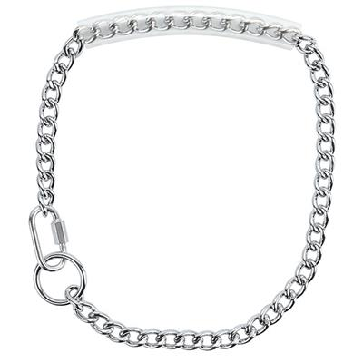Chain Goat Collar w/Rubber Grip