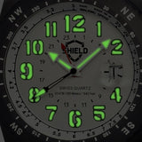 Shield Nuno Leather-Band Swiss Men's Diver Watch - Black/Silver SLDSH0105