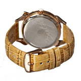 Bertha Bow MOP Leather-Band Ladies Watch - Rose Gold/Cream BTHBR2106