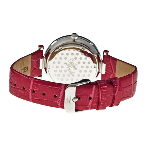Sophie & Freda Butchart Leather-Band Ladies Watch - Red SAFSF1704