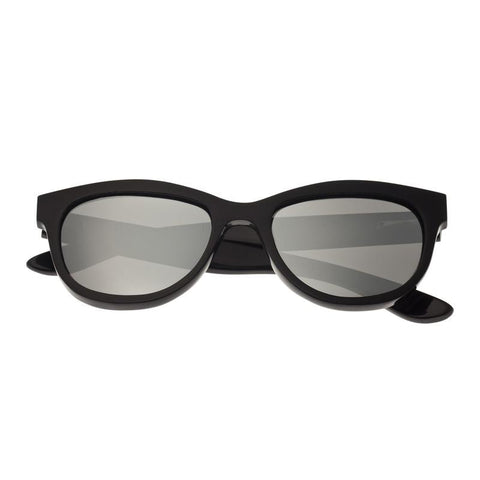 Bertha Carly Buffalo-Horn Polarized Sunglasses - Black/Silver BRSBR009BS