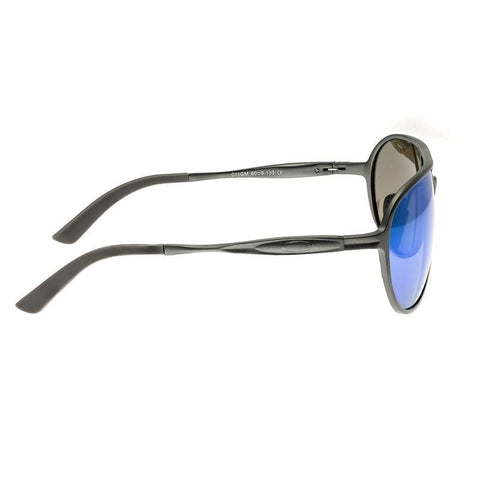 Breed Earhart Aluminium Polarized Sunglasses - Gunmetal/Blue-Green BSG011GM