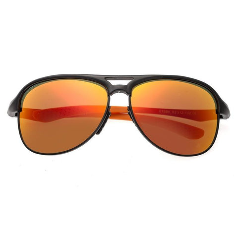 Breed Jupiter Aluminium Polarized Sunglasses - Black/Red-Yellow BSG019BK