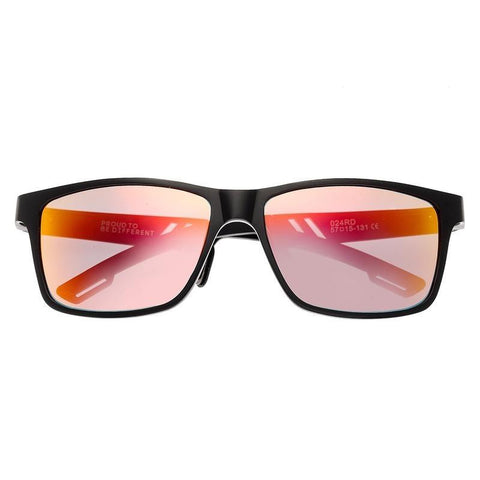 Breed Pyxis Titanium Polarized Sunglasses - Black/Red-Yellow BSG024RD