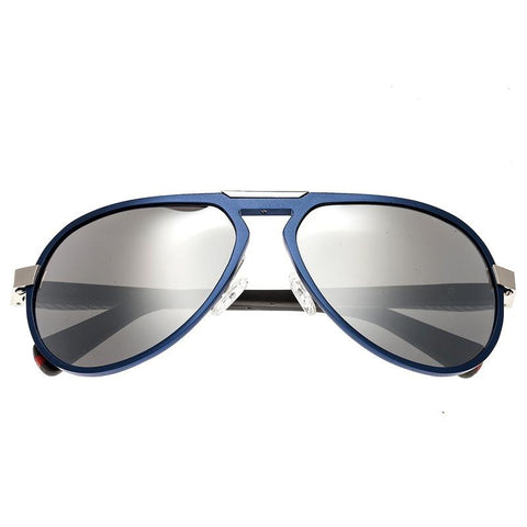 Breed Octans Titanium Polarized Sunglasses - Blue/Black BSG028BL