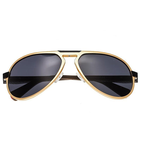 Breed Octans Titanium Polarized Sunglasses - Gold/Black BSG028GD