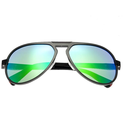 Breed Octans Titanium Polarized Sunglasses - Gunmetal/Green BSG028ST