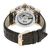 Reign Stavros Automatic Skeleton Leather-Band Watch - Rose Gold/White REIRN3703