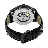 Reign Belfour Automatic Skeleton Leather-Band Watch - Black REIRN3606