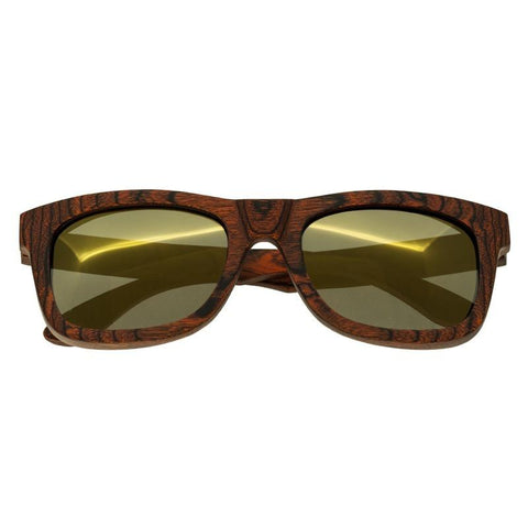 Spectrum Peralta Wood Polarized Sunglasses - Orange/Gold SSGS103GD