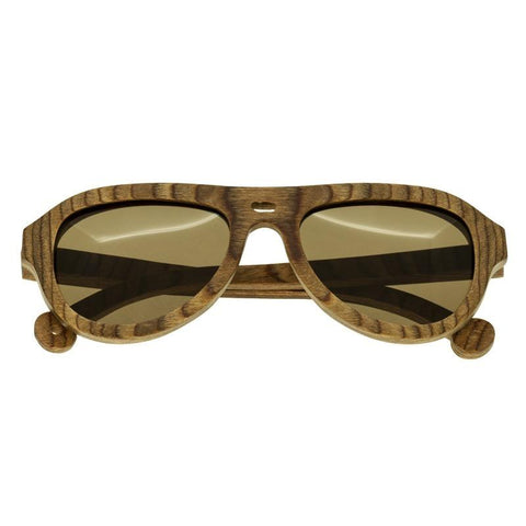 Spectrum Marzo Wood Polarized Sunglasses - Brown/Brown SSGS109BN
