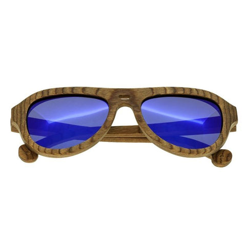 Spectrum Marzo Wood Polarized Sunglasses - Brown/Blue SSGS109BL