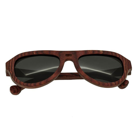 Spectrum Keaulana Wood Polarized Sunglasses - Cherry/Black SSGS112BK