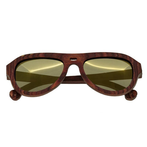 Spectrum Keaulana Wood Polarized Sunglasses - Cherry/Gold SSGS112GD