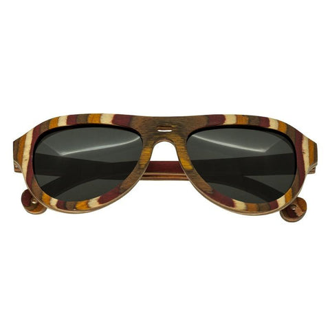 Spectrum Fanning Wood Polarized Sunglasses - Multi/Black SSGS114BK