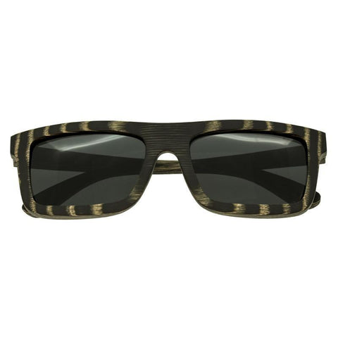 Spectrum Ward Wood Polarized Sunglasses - Black Stripe/Black SSGS117BK