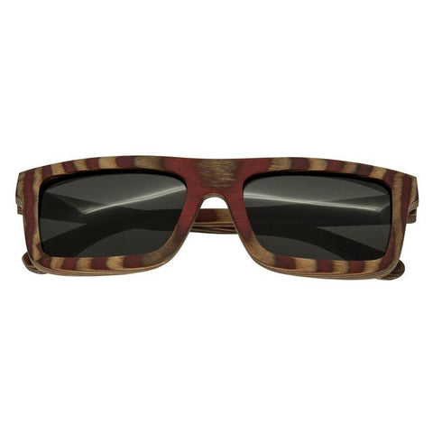 Spectrum Parkinson Wood Polarized Sunglasses - Cherry Zebra/Black SSGS121BK